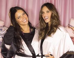 Adriana Lima e Alessandra Ambrosio angeli in lingerie per Victoria Secret Fashion Show