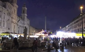 piazza navona mercatini di natale a roma