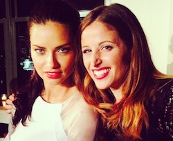 selfie clio make up con adriana lima