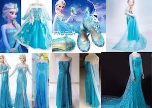 costumi di carnevale di elsa di frozen su ebay e amazon