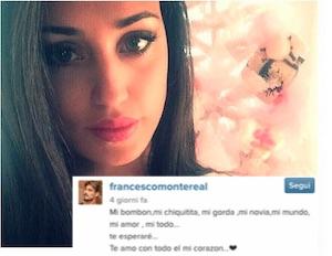 messaggio di francesco monte a cecilia rodriguez su instagram parte per isola dei famosi
