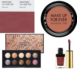 pantone marsala colore 2015  make up sephora e YSL