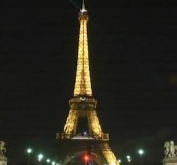 torre eiffel spenta a parigi