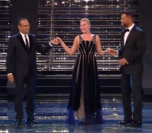 Margot Robbie e Will Smith sanremo 2015 stilisti cachet abiti finale sanremo 2015