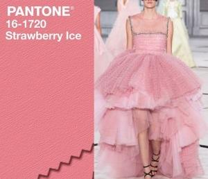 pantone strawberry ice vestito giambattista valli primavera 2015
