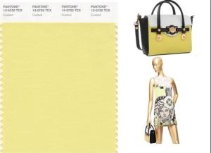 versace introduce il giallo custard di pantone collezione primavera 2015