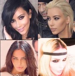 Kim Kardashian e Nina Moric bionda