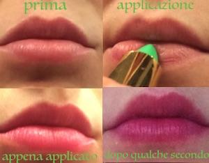 rossetto verde marocco applicazione