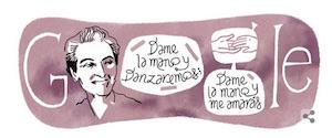 Gabriela Mistral doodle poetessa google 7 aprile  2015