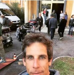 ben stiller selfie a cinecitta nuovo film