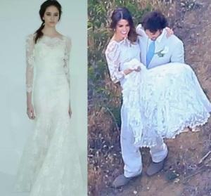 nikki reed abito da sposa di Claire Pettibone los angeles