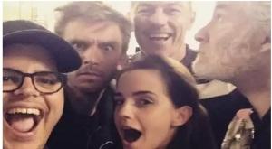 selfie de la bella e la bestia film cast disney emma