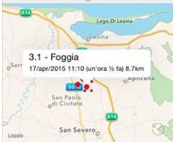 terremoto oggi in tempo reale ultime scosse puglia foggia apricena poggio imperiale foggia