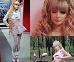 Angelica Kenova modella russa barbie umana