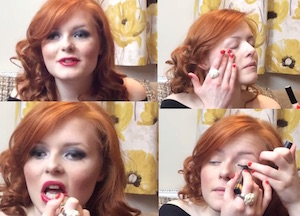 Lucy Edwards make up video youtube si trucca da sola ma e cieca si trucca senza vedere tutorial