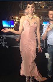 abito rosa vivienne westwood nina zilli finale italia s got talent 2015