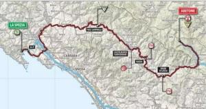 cartina percorso giro d italia 13 maggio 2015 la spezia abetone