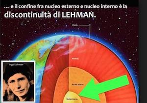 discontinuità di lehman nucleo esterno nucleo interno terremoti sismologia geofisica