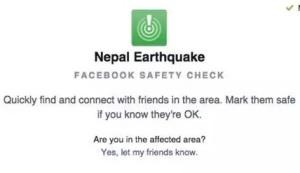 terremoto nepal facebook sefty check