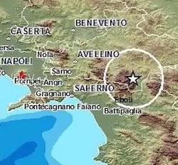 terremoto oggi in tempo reale in campania avvellino irpinia