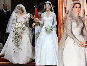 abito da sposa principessa kate middleton diana e grace kelly