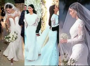belen rodriguez e kim kardashian abito da sposa nozze foto video