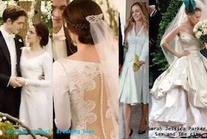 kristen stewart abito sposa breaking dawn e sarah jessica parker abito da sposa carrie sex and the city vivienne westwood