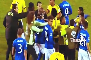 neymar e bacca rissa brasile colombia fine partita video youtube esplisi e squalifica