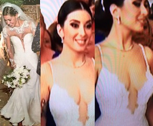 nunzia maradona moglie di diego armando maradona junior abito sposa matrimonio scollato come belen rodriguez