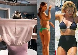 mutandoni della nonna birdget jones emma marrone costume vita alta mutande belen bikini lato b