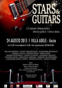 Stars & Guitars evento musicale chitarra ad anzio ad agosto con musicisti e band tutte le news stefano russo mario russo