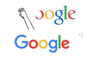 nuovo logo di google annuncio con un doodle