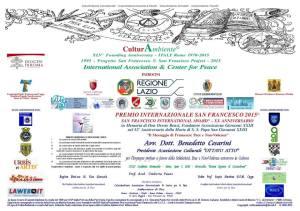premio internazionale san francesco 2015 dott benedetto cesarini