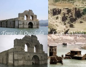 Tempio di Quechula chapas messico lago di vagli in toscana garfagnana lucca