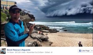 foto tempesta su sydney da facebook bondi resecue lifeguards