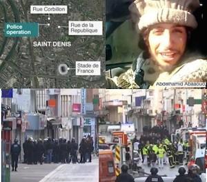 parigi ultime notizie blitz a saint denis kamikaze arrestati teroristi trovato arrestato la mente dell attentato Abdelhamid Abbaoud