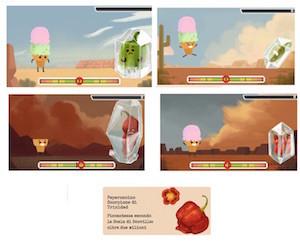 doodle gioco di google dei peperoncini contro i gelati