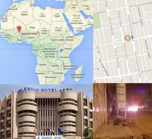 hotel splendid  Ouagadougou nel Burkina Faso dove si trova al queda