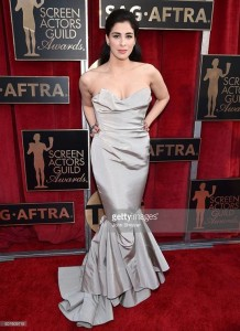 Sarah Silverman in Vivienne Westwood ai Screen Actors Guild Awards 2016