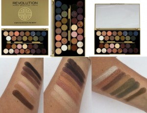 make up revolution Fortune Favours The Brave with Britishbeautyblogger Swatches