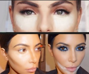 Make Up contouring sandbag sandbagging mario make up artist kim kardashian