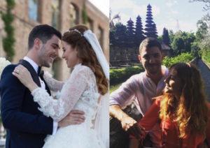Ezgi Eyüboğlu e Kaan Yıldırım di Happiness serie tv turca si sono sposati nella vita stanno insieme e viaggio di nozze a bali in India