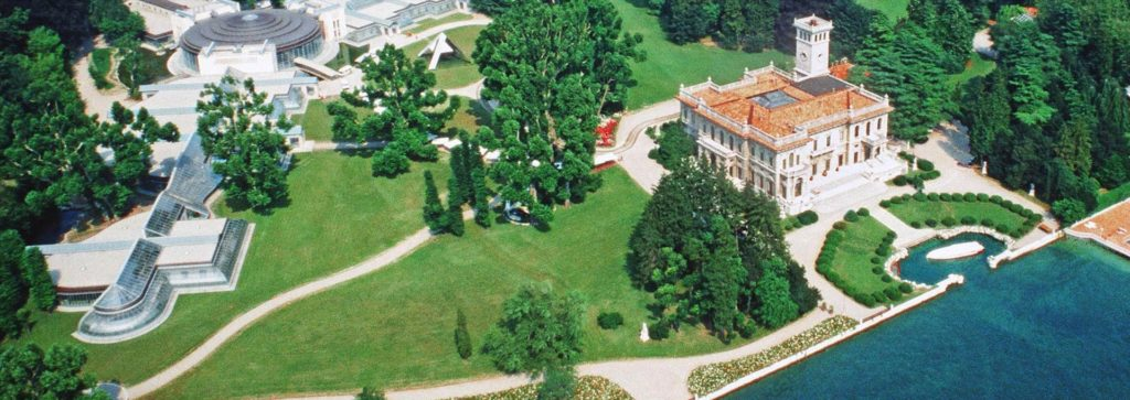 villa erba vista dall'alto zona concerti ed eventi