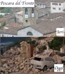 pescara del tronto prima del terremoto e dopo il terremoto del 24 agosto 2016