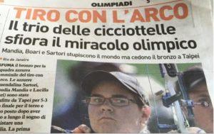 titolo cicciottelle resto del carlino sulle atlete del tiro con l arco italiane