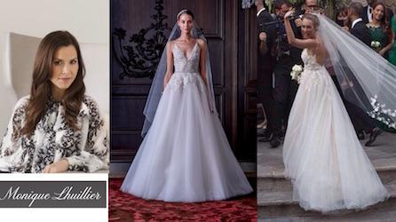Monique lhuillier stilista dell abito da sposa di cristel carrisi
