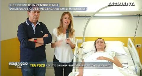 domenica e giuseppe cercano eros che li ha salvati dal terremoto nel centro italia ad amatrice