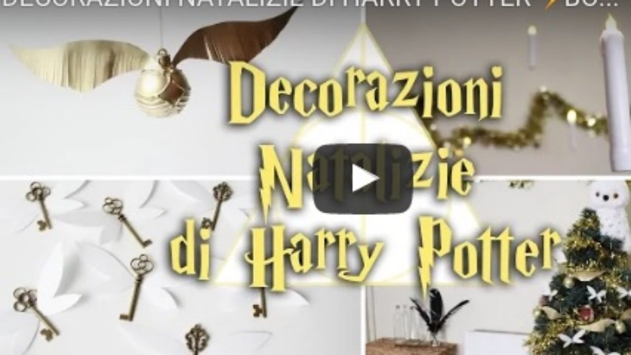 Immagini Natalizie Harry Potter.Decorazioni Natalizie Di Harry Potter Fai Da Te Video Youtube