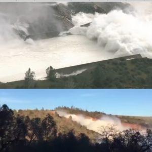california diga di oroville straripa video immagini in tempo reale live streaming