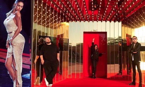 Belen Rodriguez è a Cinecittà con tutto il suo staff  il parrucchiere  Lollo 060f8b09561